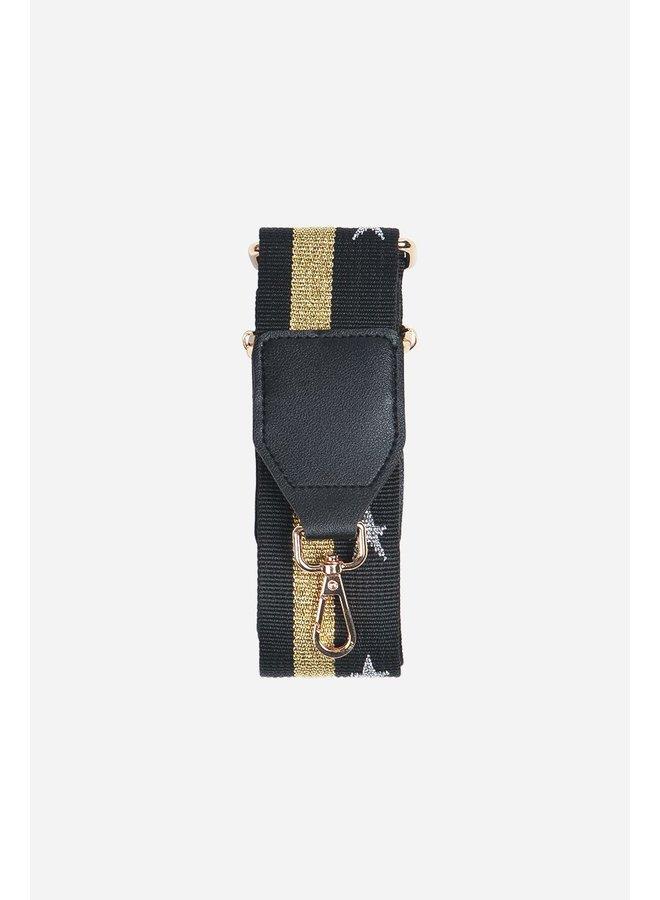 Stars and Stripes Bag Strap - Black/Gold
