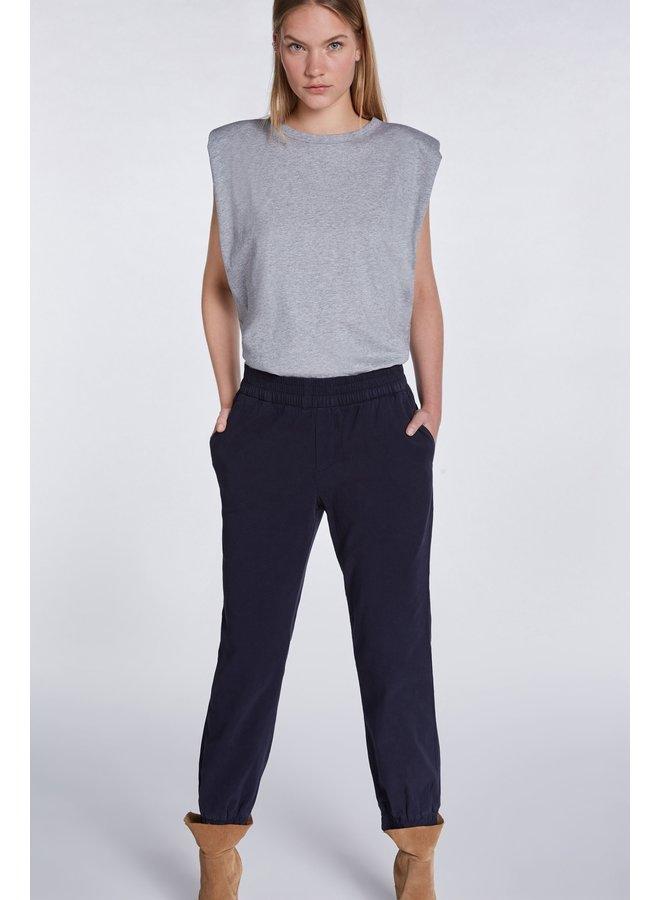 Elastic cuff pants - Navy
