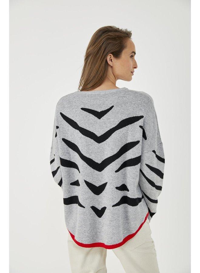 Zebra Pullover - Gris