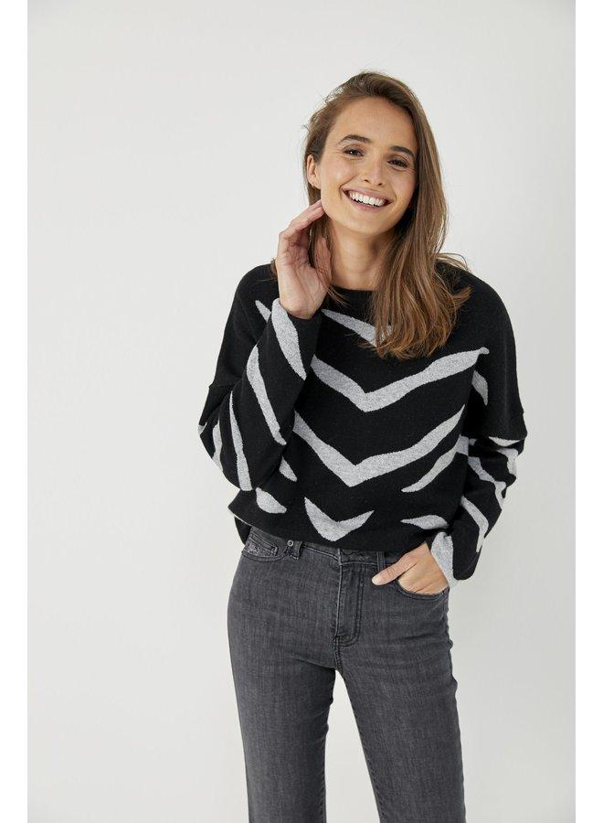 Zebra Pullover - Noir