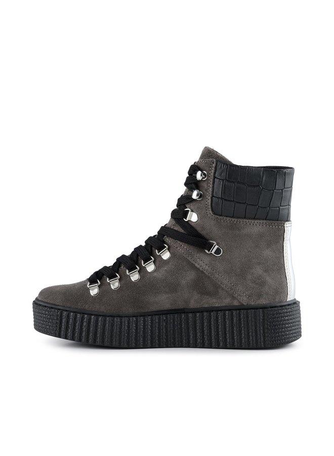 Agda Suede Boots - Dark Grey