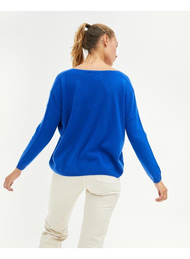 Angele Cashmere Knit - Cobalt
