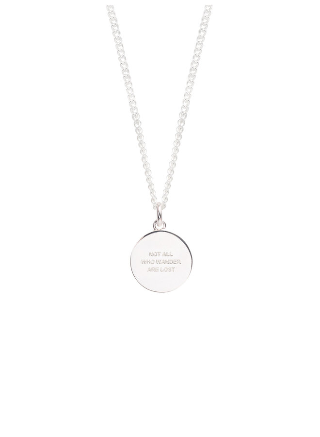 TSJ2996 - 60cm Large Compass Necklace - Silver