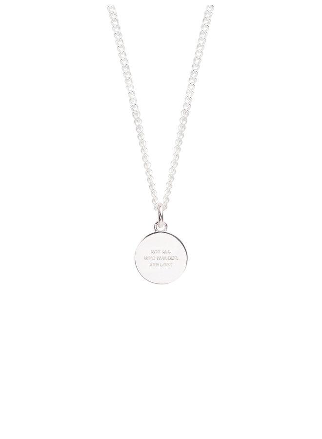 TSJ2983 - 50cm Small Compass Necklace - Silver