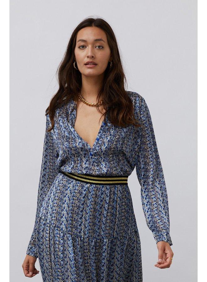 Helena Shirt - Blue Floral
