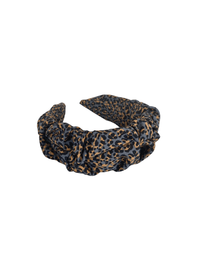 Napoli hairband - Dk Grey Brown