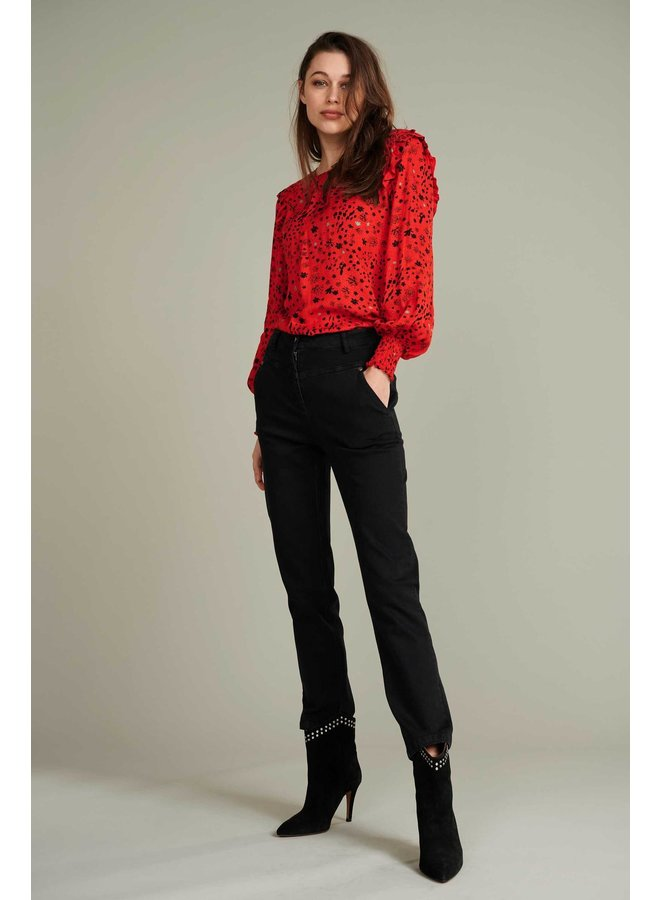 City Charms Blouse - Hot Red