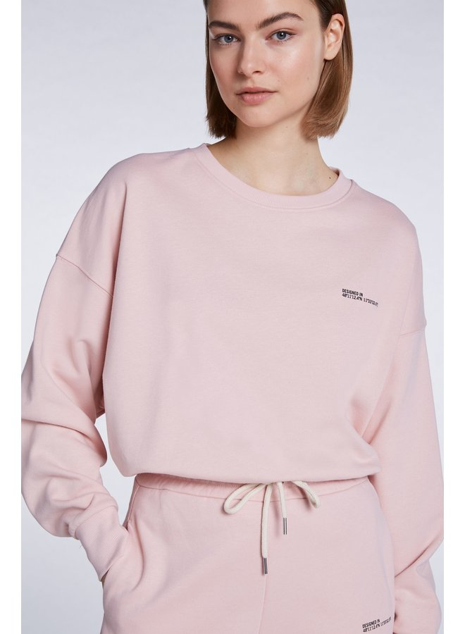 Crew Neck Sweatshirt - Vintage Rose