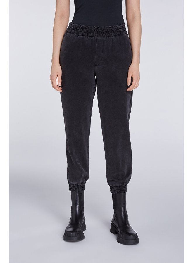 Elasticated Cuff Pants - Black