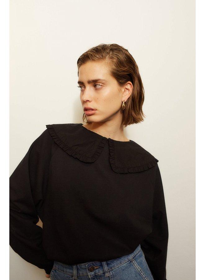 Collared Sweatshirt - Black