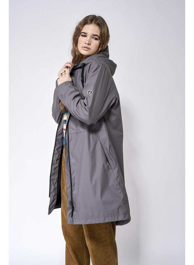 Vand Fleece Lined Coat - Lava Grey