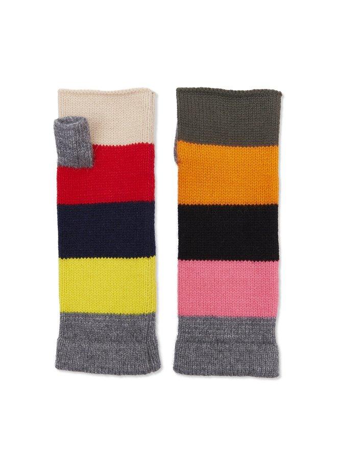 Cashmere Colour Block Wrist Warmer - Multi