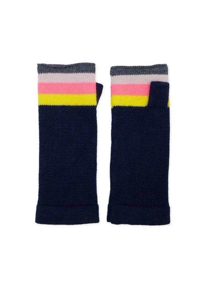 Rainbow Wrist Warmer - Navy
