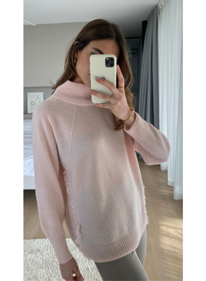 Cian Cashmere Jumper - Pale Pink