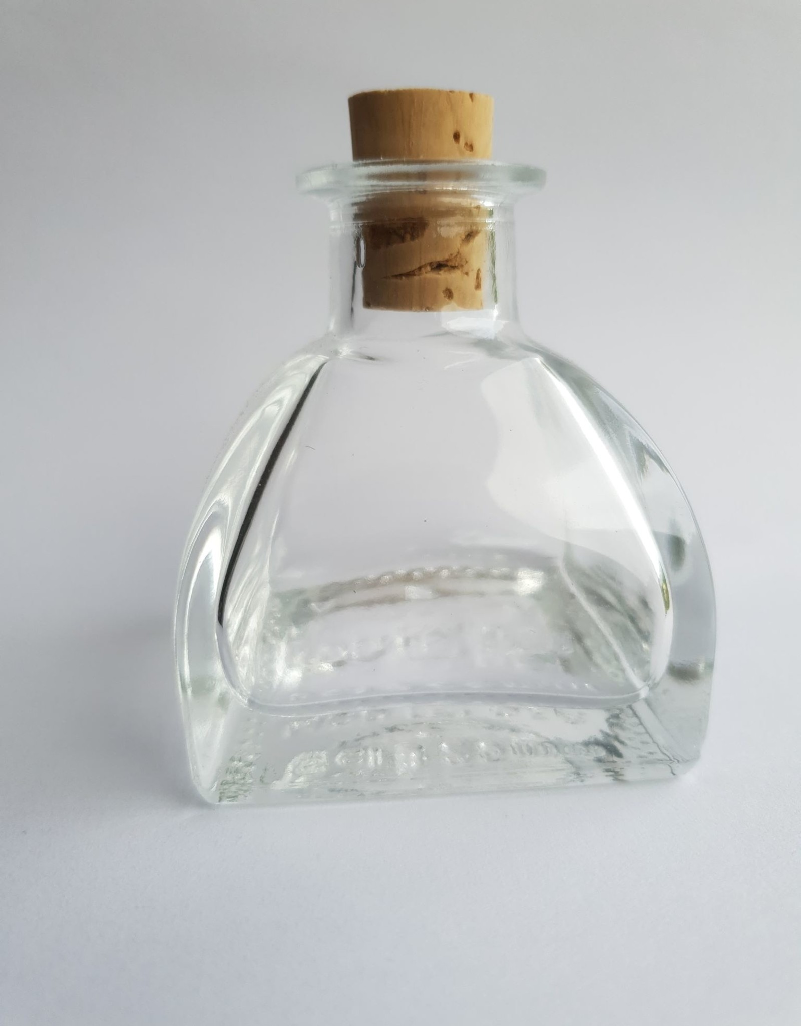 Oli & Eli Glazen flesje met kurk - 50ml - tondo