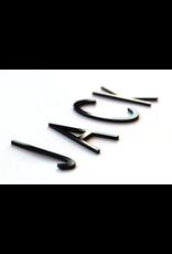 Oli & Eli Naam in acryl - zwart