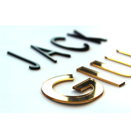 Oli & Eli Naam in acryl - spiegelend goud