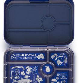 Yumbox Yumbox tapas XL - 5 vakken Portofino blauw/ Bon appetit