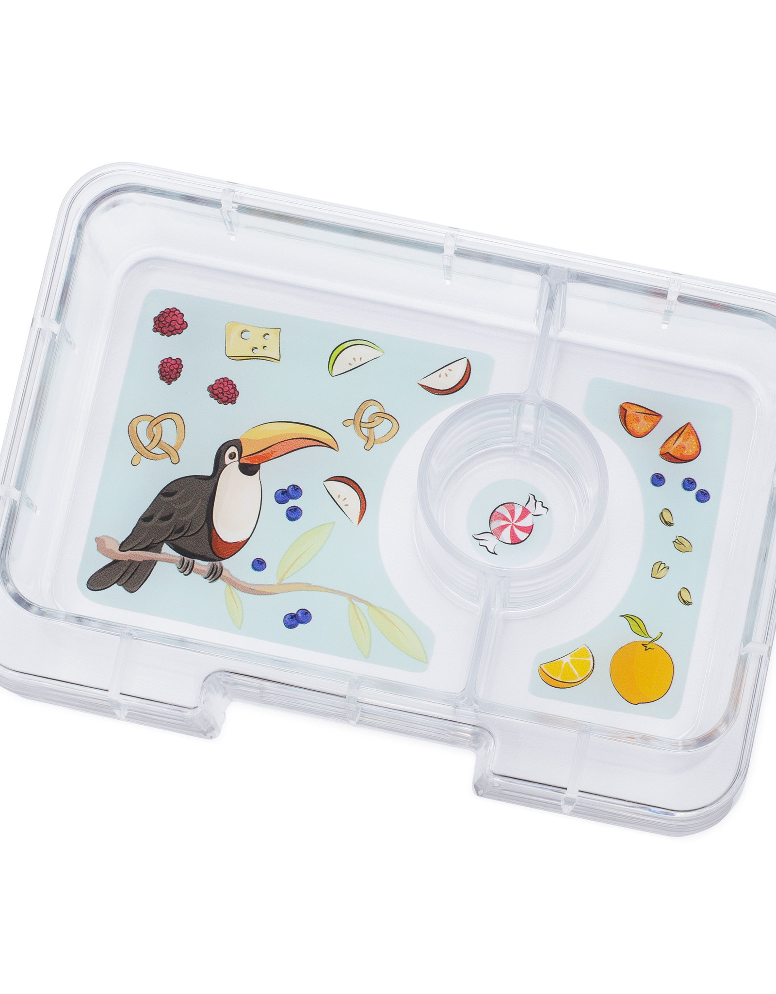 Yumbox Yumbox MiniSnack extra tray 3 vakken Toucan