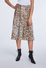 SET FASHION Cheetah print midi rok