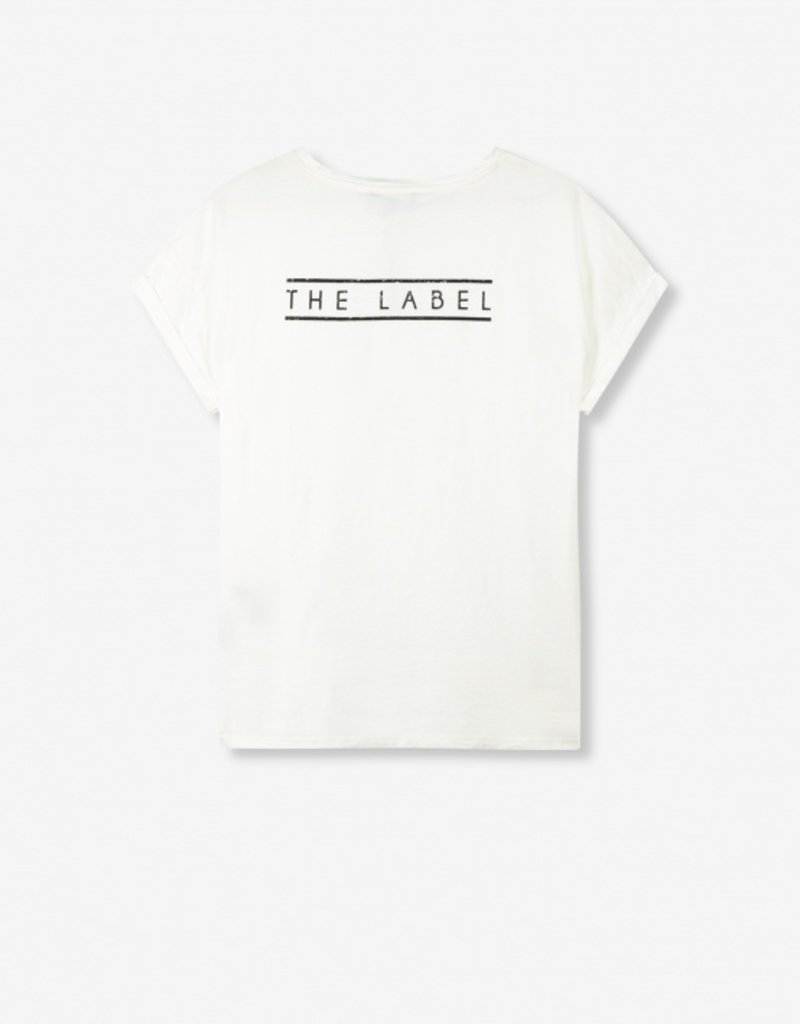 ALIX THE LABEL Ladies knitted boxy The Label t-shirt