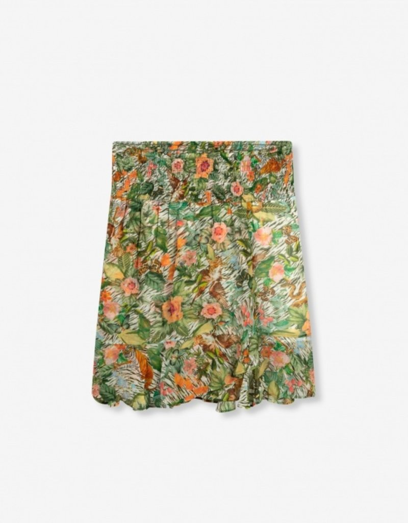 ALIX THE LABEL ladies woven botanical smocked skirt