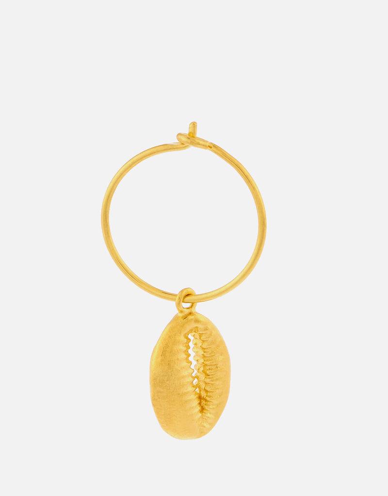 Cowry Shell Hoop Earring col. Gold ANNI LU