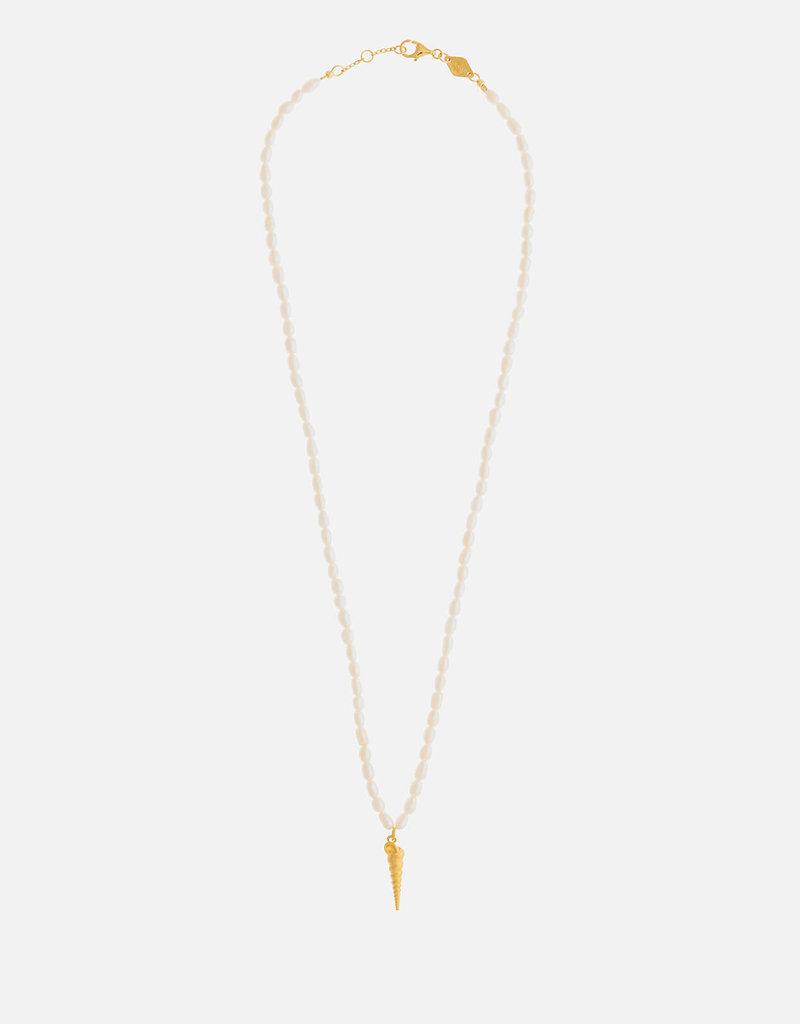 ANNI LU Turret Shell & Pearl Necklace ANNI LU