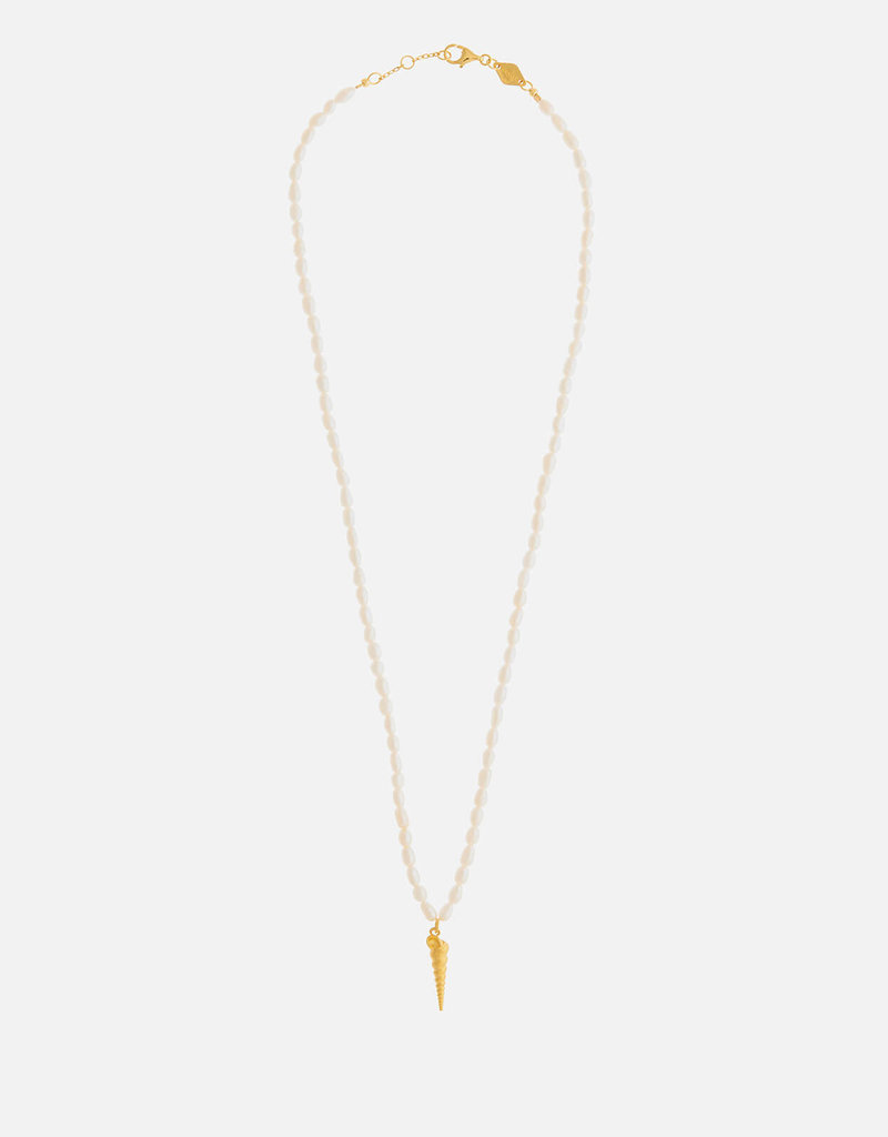 Turret Shell & Pearl Necklace ANNI LU