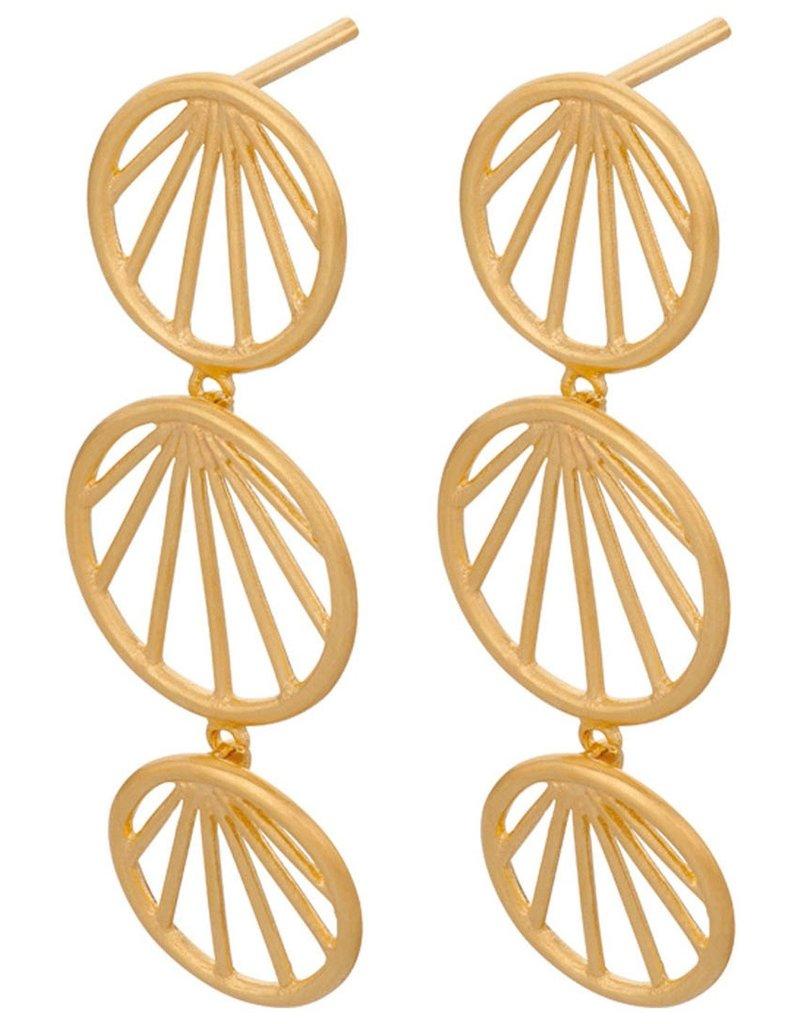 PERNILLE CORYDON Sunray earrings size 35mm