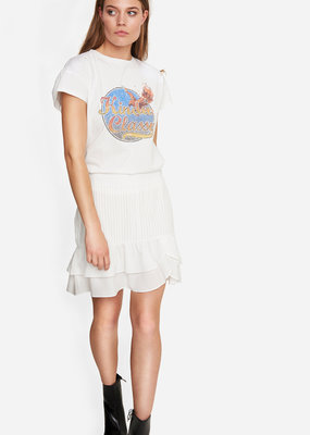 ALIX THE LABEL Ladies knitted washed classy t-shirt