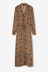 ALIX THE LABEL Ladies woven animal crepe long dress