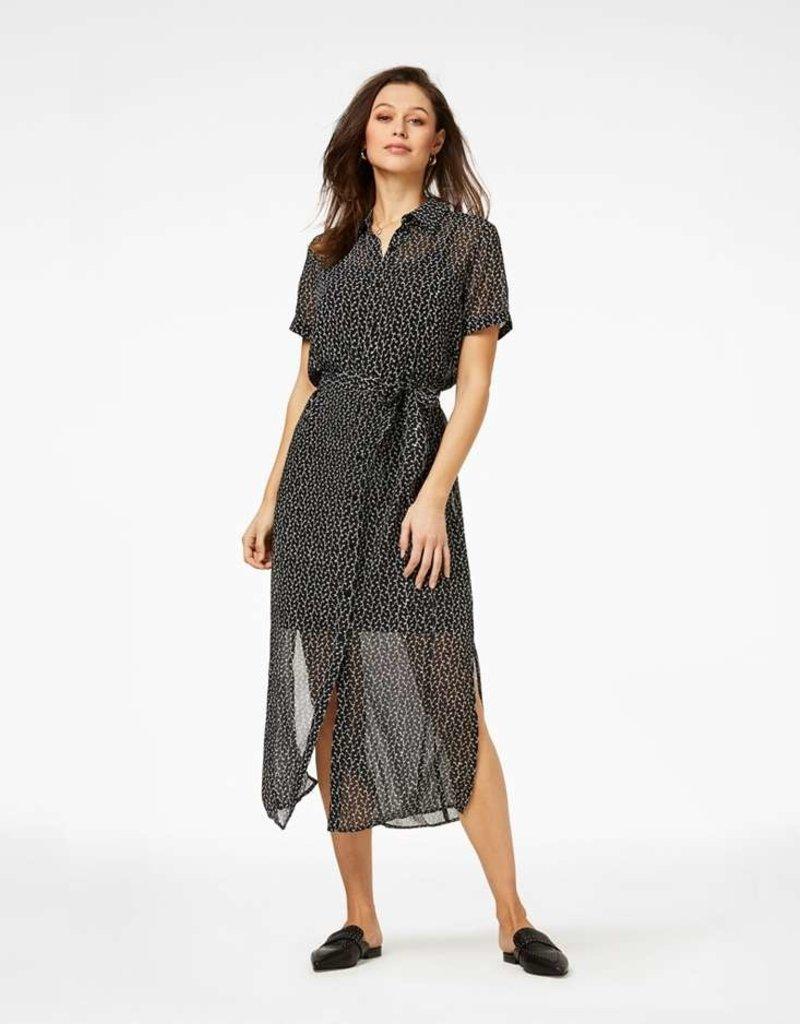 FREEBIRD HarperSS-Black Midi dress short sleeve