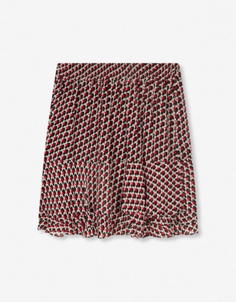 ALIX THE LABEL Graphic star chiffon skirt
