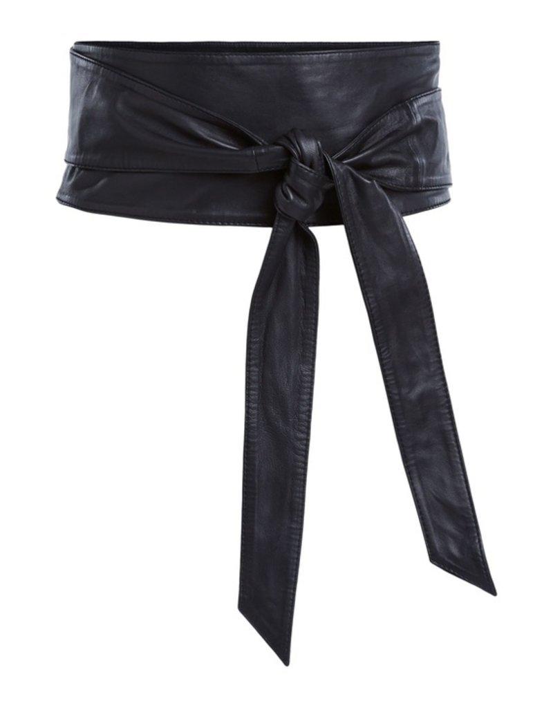 SET FASHION The Sash Lambskin Tie Belt