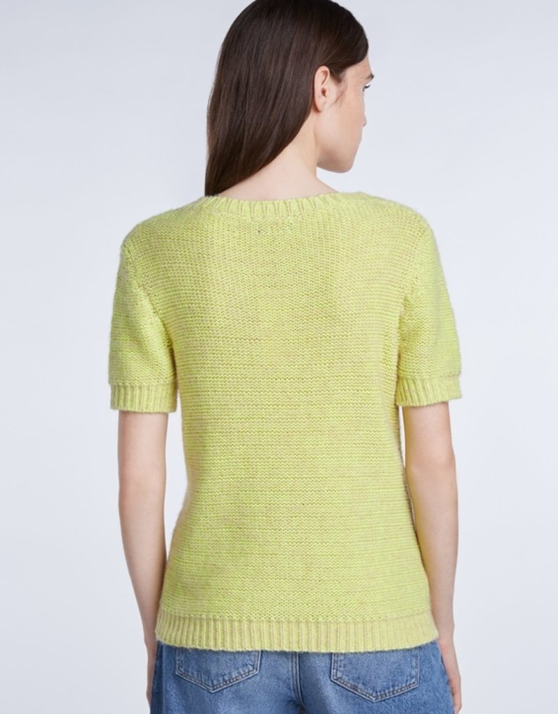 SET FASHION Casual crew-neck sweater with short sleeves made from recycled PET bottles