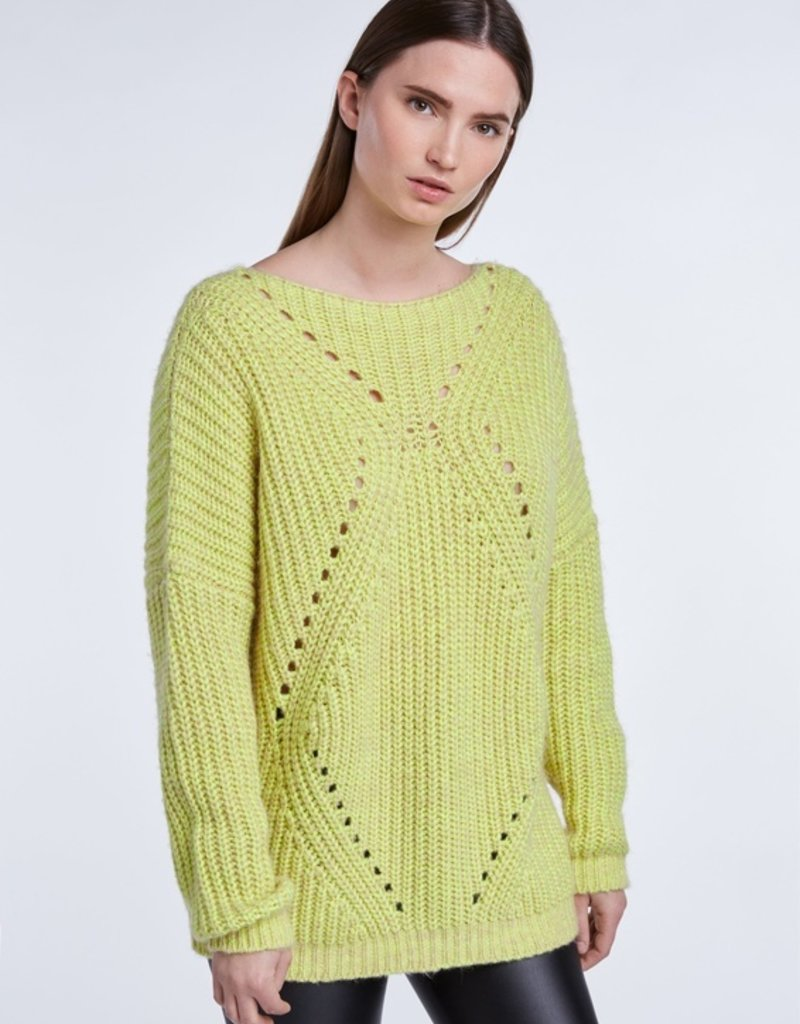 SET FASHION Casual statement knitted sweater made from recycled PET bottles