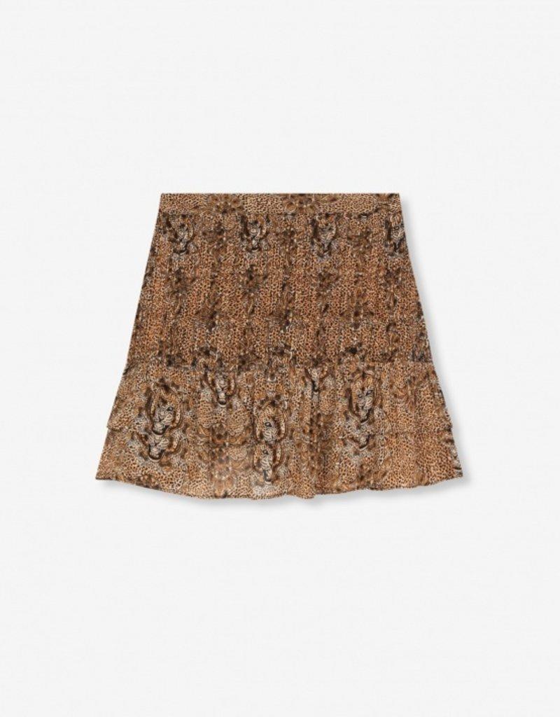 ALIX THE LABEL Animal crepe skirt