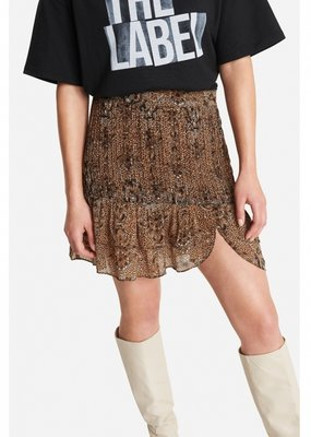 ALIX THE LABEL Animal crepe skirt