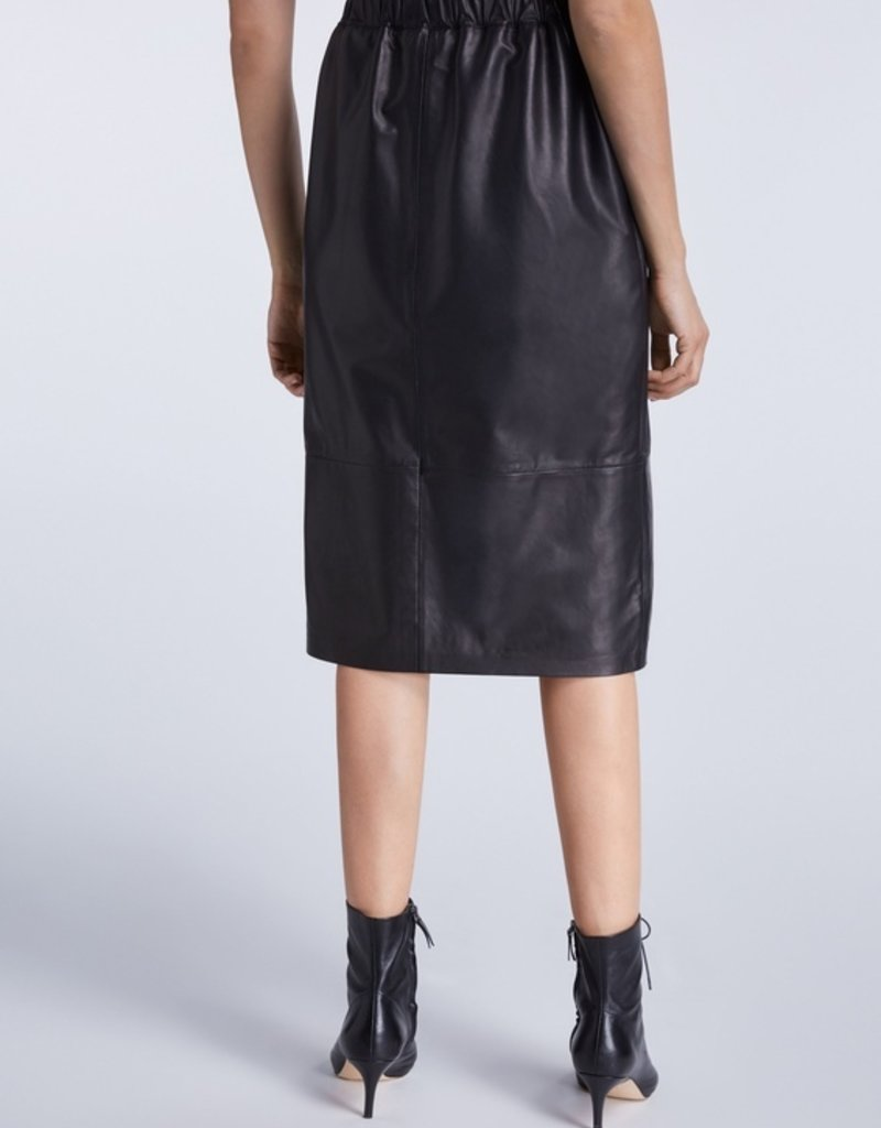 SET FASHION Leather skirt with slit detail