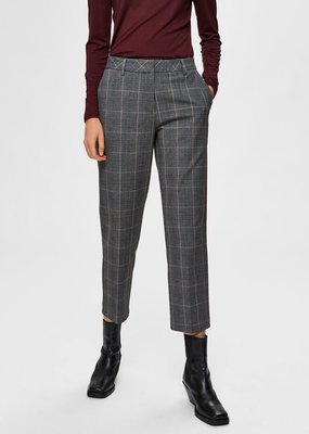 SELECTED FEMME SLFMILO MW CROPPED PANT MGM CHECK