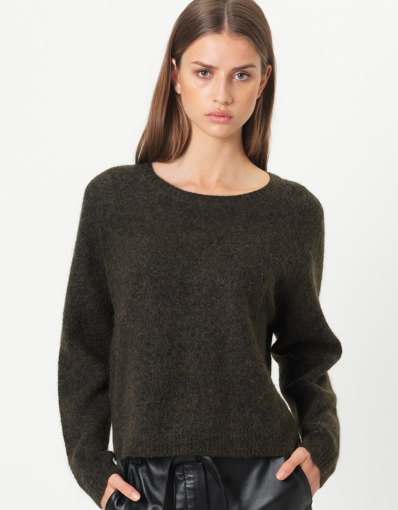 SECOND FEMALE Brook Knit New Loose O-neck
