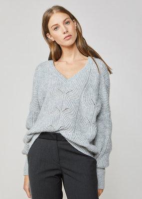 SUMMUM WOMAN Oversized sweater airy alpaca knit