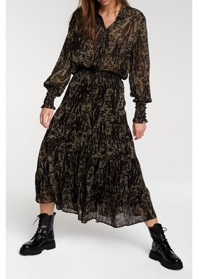 ALIX THE LABEL Animal maxi skirt