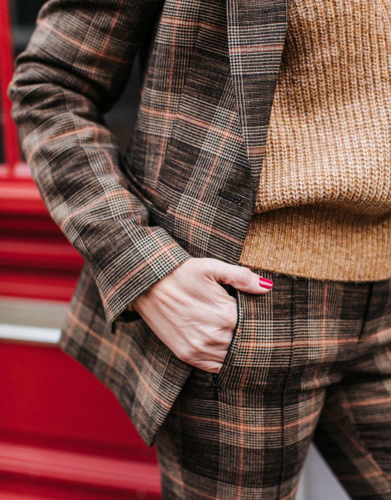 SET FASHION Trouser with check pattern