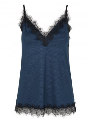 ROSEMUNDE 4217-9499 Strap top blue pattern
