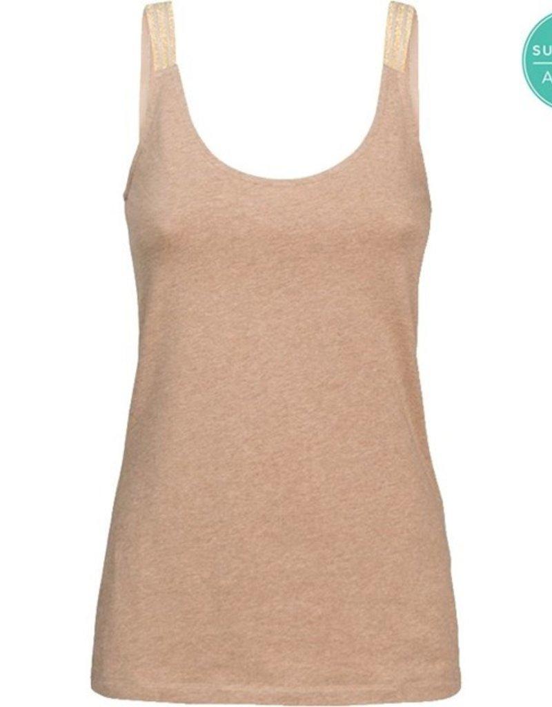SUMMUM WOMAN 3s4469-30209 Singlet r-neck organic cotton ea basics melange