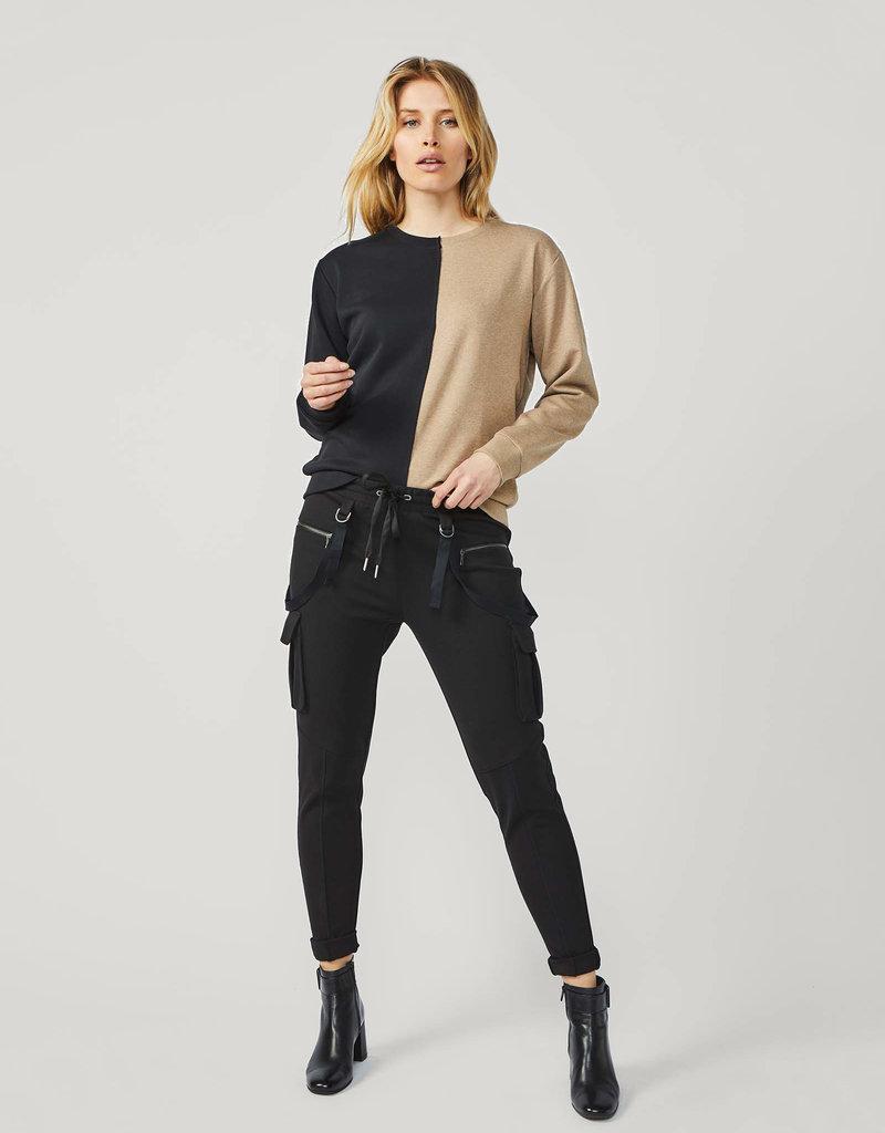 SUMMUM WOMAN 3s4478-30206 Sweater patchwork organic cotton sweat