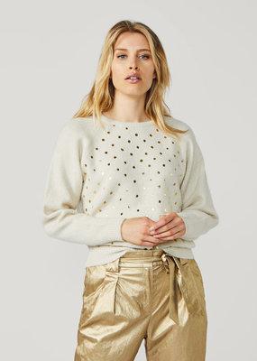 SUMMUM WOMAN 7s5545-7792 Dot sweater cosy wool mix knit