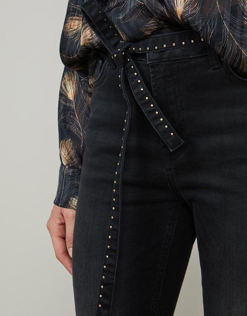 SUMMUM WOMAN 4s2055-5074 Belted skinny jeans julia
